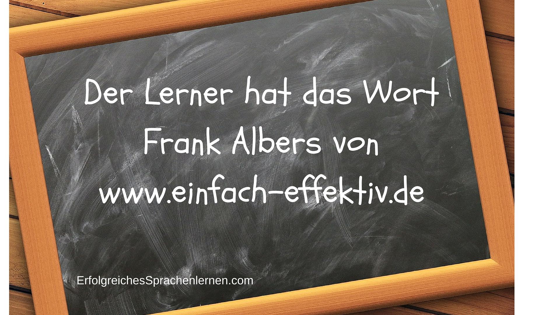 Der Lerner hat das Wort Frank Albers
