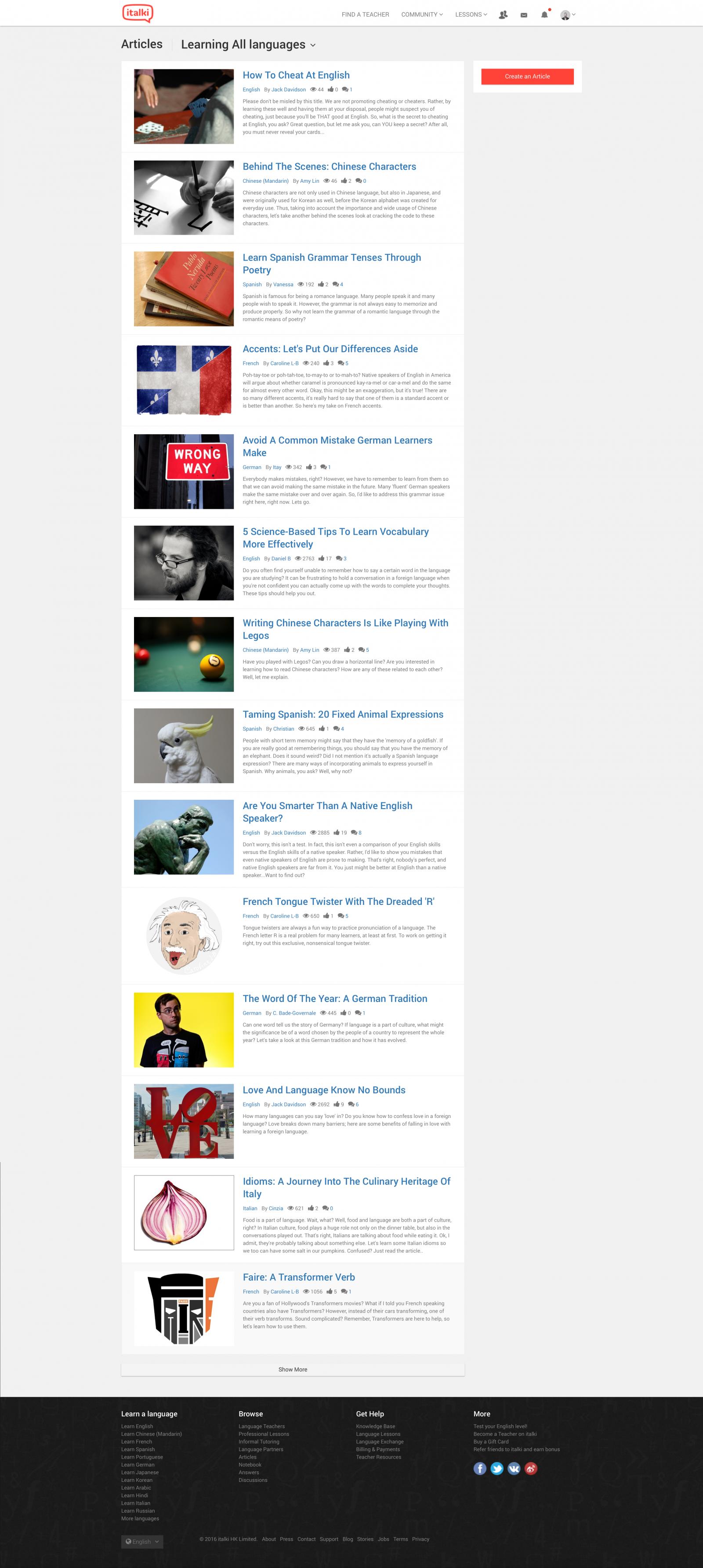 Italki Articles
