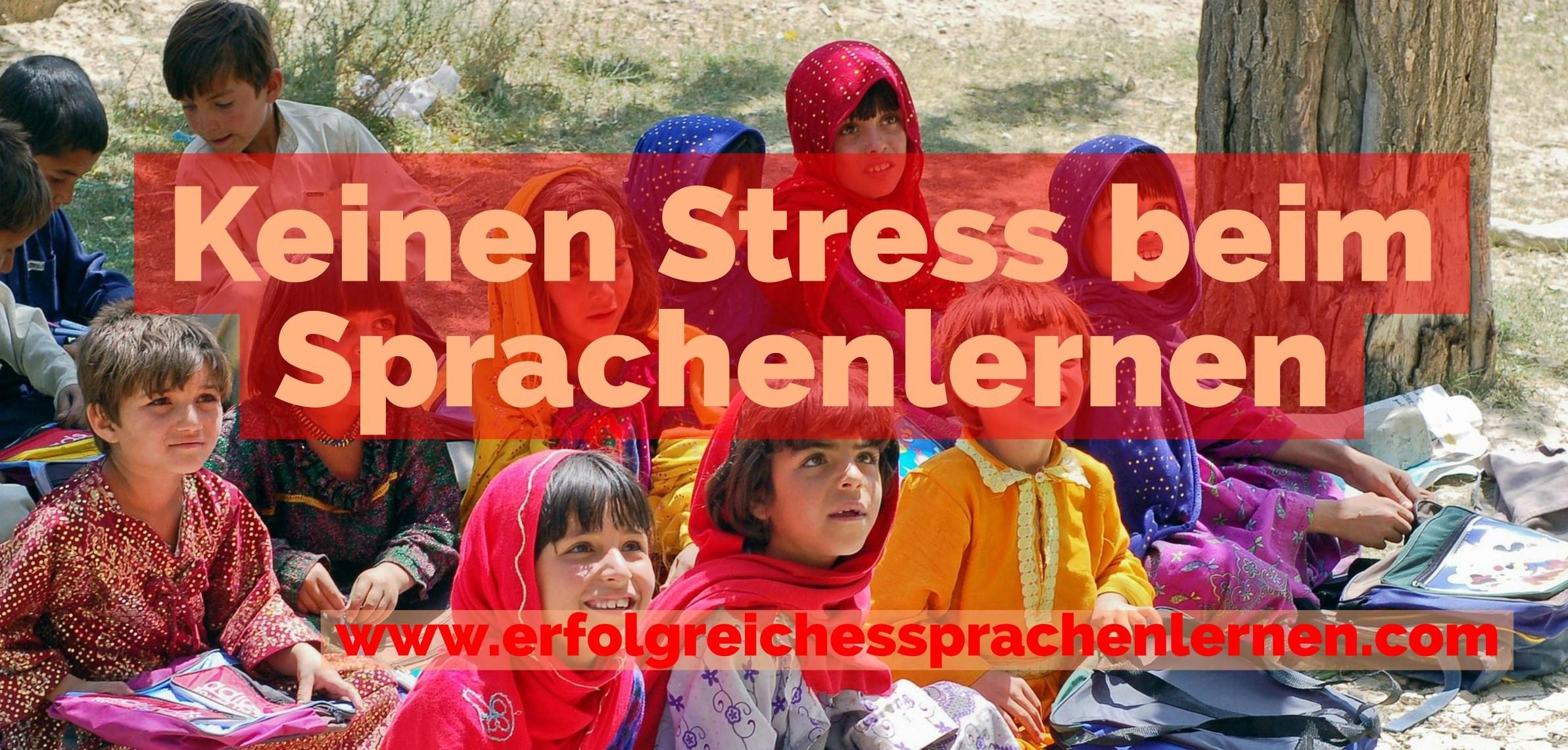 Keinen Stress beim Sprachenlernen